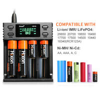 4 Slot USB LCD Li-ion Ni-MH Battery Smart Charger For AA AAA 18650 14500 CR123A