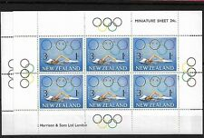 NEW ZEALAND 1968 HEALTH SHEETS, MNH, SGMS889, CAT £16