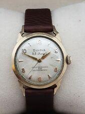 Vintage 1955 Bulova 23 Jewel Automatic Wristwatch GF Horned Lugs Case