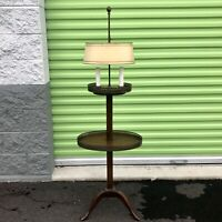 VINTAGE Frederick Cooper Wood Candlestick Bouillotte Floor Lamp Side Table