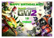LARGE A5 GLOSSY PERSONALISED PLANTS V ZOMBIES GARDEN WARFARE 2 BIRTHDAY CARD
