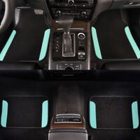 Car Floor Mat Universal Mint Black For Honda Hyundai Toyota  4 PCS PU Leather