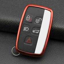 Red Tpu Car Remote Smart Key Case Cover For Land Range Rover Discovery Jaguar Fits More Than One Vehicle