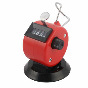 Office Stainless Steel Handheld 4 Digital Table Desk Tally Click Counter