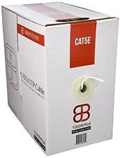 CAT5E 1000FT UTP CABLE SOLID WIRE ETHERNET CABLE 24AWG PULL BOX 350MHZ WHITE
