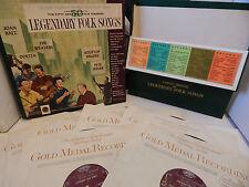 Legendary Folk Songs Leadbelly Lightnin Hopkins John Lee Hooker Various 6 LP NM+