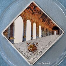 2013 Palau $10 Hall of Mirrors VERSAILLES 50 gram Silver Coin Antique finish