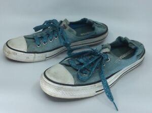 Converse All Stars Shoreline Slip Ox Sneakers Ocean Blue Size W11 M9