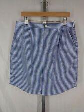 Banana Republic Shirttail Pencil Skirt Size 12 Blue White Relaxed Stripe New