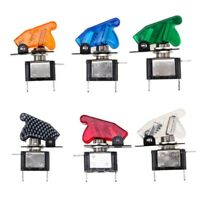 5 Color Led Lamp Toggle Rocker Switch With Cover 12V 20A SPST ON-OFF for Car