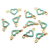 5pcs Olives Inlaid Beads Connector Alloy Charms DIY Jewelry Making 32*19mm
