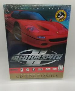 Need for Speed 2 II (Electronic Arts 1997) / Racing Driving Big Box PC Game NEW