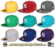 Material Hüte & -Mützen im Baseball Cap-Stil aus 100% Wolle NY-Thema