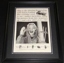 1959 Yashica Y16 11x14 Framed ORIGINAL Vintage Advertisement Poster C