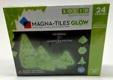 NIB Magana-Tiles 24 Piece Set Glow In The Dark Math Science Creativity