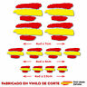 12 X BANDERA ESPAÑA SPAIN VINILO ADHESIVO PEGATINA STICKER COCHE MOTO CASCO BTT