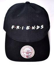 FRIENDS TV Show Mitchell & Ness Adjustable Fit Baseball Hat/Cap Black Cotton NEW