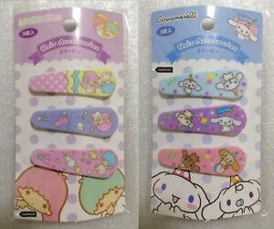 Sanrio Japan Hair Clip Accessories 3PC - Cinnamoroll Little Twin Stars - Rare