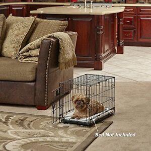 """22"""" Indoor Bunny Rabbit Cage Crate Kennel Small Pet Dog One-Door Metal Portable"""
