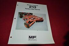 Massey Ferguson 213 Disc Harrow Dealer's Brochure DCPA