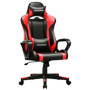 Fauteuil gamer, Chaise de bureau Siège ergonomique appui-tête amovible RCG011B01
