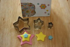 3 Small Star Metal Cutters , Sugarcraft, Biscuit, Cake Decorating, Baby shower