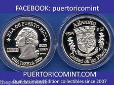 Silver PESETA AIBONITO 2009 Puerto Rico Boricua Quarter 1/100 Plata