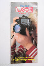 Yashica FX-D Camera Sales Brochure Pamphlet - English - USED B35 AC