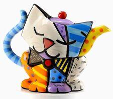 Romero Britto Full Size 36oz Ceramic Cat Teapot Retired