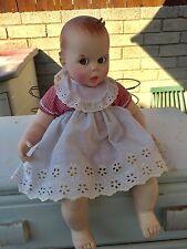 Vintage Gerber Baby Doll W/red Gingham Romper