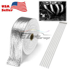 "Silver Exhaust Pipe Insulation Thermal Heat Wrap 2""x50' Motorcycle Header"