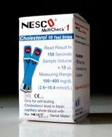 NESCO CHOLESTEROL Blood 1 Box = 10 Test Strips - NESCO MULTICHECK Original 100%