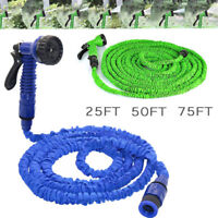 Expandable Flexible Garden Water Hose Pipe 25 50 75 FT 3x Expanding & Spray Gun