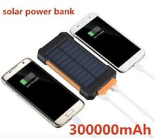 External Batterie 300000mAh Charger Solar Panel Powerbank Zusatzakku 2USB LED