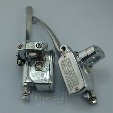 """1""""  Chrome Motorcycle Brake Master Cylinder Hydraulic Clutch Lever For Harley"""