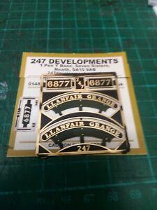 """""""0"""" Gauge 247 Developments cab side 6877 Llanfair Grange Name & Numbers"""
