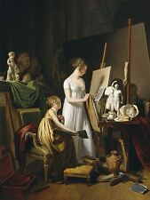 BOILLY FRENCH PAINTER STUDIO OLD ART PAINTING POSTER BB6044A