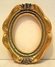 2 3/4 X 3 1/2 ITALIAN MADE GOLD LEAF OVAL w/ SCROLL STANDARD PICTURE FRAME N/R