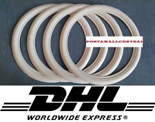 17 inch Wide Motorcycle White Wall Portawall insert Trim Set of4