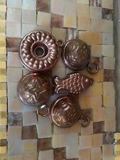 5 Kupferbackformen für die Puppenstube