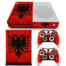 XBOX ONE S design pelle sventa Adesivo Pellicola Protettiva Set - ALBANIA Motif