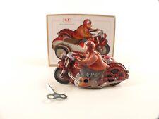 Tin Toy Clockwork • MS450 China • Sidecar Moto • boxed/en boite 12 cm with key