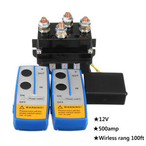 500A HD Contactor Winch Control Solenoid Twin Wireless Remote Suit Recovery 4x4