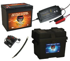 """VMAX MR107 BATTERY BC12M248 CHARGER VCB60 BOX  9""""CABLE FOR MOTORGUIDE TROLLING"""