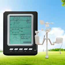 Wireless Weather Station Forecast Outdoor Solar Charging Panel Garden Equipment