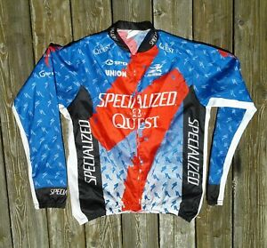 Specialized Men's Aussie 2 Quest Full Zip Bike Cycling Bicycle Jersey Jacket L