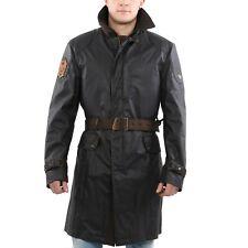 MATCHLESS Herren Wax Mantel SCOTT 1930 TRENCH Black 110313 Größe L