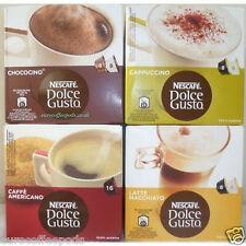 Nescafe Dolce Gusto 4 Flavours:Latte, Cappuccino, Chococino & Americano 64 Caps