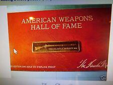 1861 US MUSKET  RIFLE GUN SILVER GOLD BAR LINCOLN MINT ON CARD