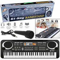 61 Keys Digital Electric Piano Music Electronic Keyboard Organ Mini Microphone
